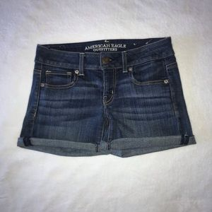 American Eagle denim midi shorts : Size 0